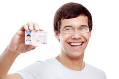 Τύπος με την άδεια οδήγησης στοκ φωτογραφία με δικαίωμα ελεύθερης χρήσης