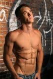 τύπος που ανατρέχει shirtless Στοκ εικόνες με δικαίωμα ελεύθερης χρήσης