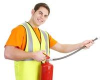 τύπος πυρκαγιάς πυροσβ&epsilo στοκ φωτογραφίες με δικαίωμα ελεύθερης χρήσης