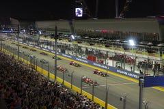 Τύπος 1 της Σιγκαπούρης κύριος raceday Στοκ εικόνα με δικαίωμα ελεύθερης χρήσης