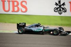 Τύπος 1 της Mercedes σε Monza που οδηγείται από το Nico Rosberg Στοκ εικόνες με δικαίωμα ελεύθερης χρήσης