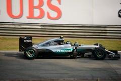 Τύπος 1 της Mercedes σε Monza που οδηγείται από το Nico Rosberg Στοκ φωτογραφίες με δικαίωμα ελεύθερης χρήσης