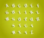 Τύπος χαρακτήρων αλφάβητου, αποκοπή του εγγράφου απεικόνιση αποθεμάτων