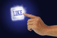 Τύπος χεριών κουμπιών Στοκ εικόνες με δικαίωμα ελεύθερης χρήσης