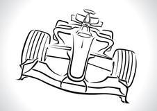 Τύπος 1 διάνυσμα αγωνιστικών αυτοκινήτων διανυσματική απεικόνιση