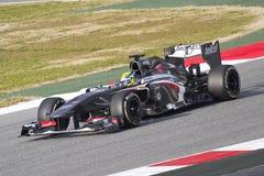 Τύπος 1 Sauber C32 - Esteban Gutierrez Στοκ Εικόνες