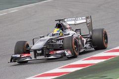 Τύπος 1 Sauber C32 - Esteban Gutierrez Στοκ φωτογραφία με δικαίωμα ελεύθερης χρήσης