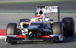 Τύπος 1 - Sergio Perez Στοκ Φωτογραφίες