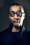 Τύπος Nerd στα γυαλιά Στοκ φωτογραφία με δικαίωμα ελεύθερης χρήσης