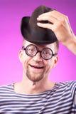 Τύπος Nerd στο καπέλο Στοκ Φωτογραφία