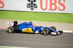Τύπος 1 Sauber σε Monza που οδηγείται από το Felipe Nasr Στοκ Εικόνες