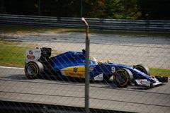 Τύπος 1 Sauber σε Monza που οδηγείται από το Marcus Ericsson Στοκ Φωτογραφίες