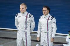 Τύπος 1 2015: Valtteri Bottas και Felipe Massa Στοκ Εικόνες