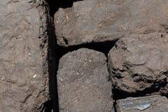 Τύρφη ανθρακόπλινθων που συσσωρεύεται εδώ κοντά στοκ φωτογραφία με δικαίωμα ελεύθερης χρήσης