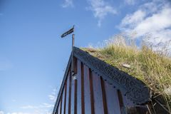 Τύρφη-εκκλησία Grafarkirkja, βόρεια Ισλανδία 1 Στοκ Εικόνες