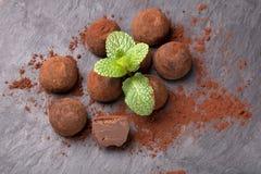 τύλιγμα τρουφών απεικόνισης σοκολάτας ανασκόπησης στοκ φωτογραφία με δικαίωμα ελεύθερης χρήσης