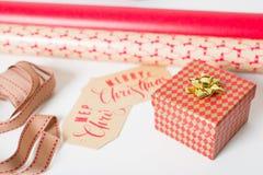 Τύλιγμα δώρων Χριστουγέννων Στοκ Φωτογραφία