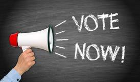 τώρα ψηφοφορία Στοκ εικόνες με δικαίωμα ελεύθερης χρήσης