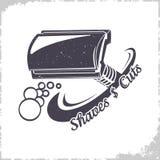 Τ-διαμορφωμένο λογότυπο ξυραφιών διανυσματική απεικόνιση