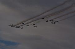 Τ-28 & T34s στην παρέλαση Στοκ εικόνες με δικαίωμα ελεύθερης χρήσης
