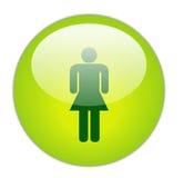 υαλώδεις πράσινες κυρίες εικονιδίων Στοκ εικόνες με δικαίωμα ελεύθερης χρήσης