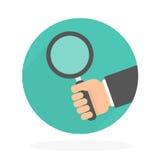 δυαδικός κώδικας που εξετάζει τη χρησιμοποίηση ενίσχυσης εκμετάλλευσης χεριών γυαλιού ελεύθερη απεικόνιση δικαιώματος