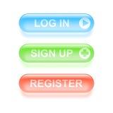 Υαλώδη κουμπιά καταλόγων Στοκ φωτογραφία με δικαίωμα ελεύθερης χρήσης