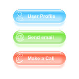 Υαλώδη κουμπιά παραμέτρων χρήστη Στοκ εικόνα με δικαίωμα ελεύθερης χρήσης