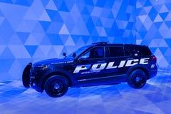 2020 υβριδικός αναχαιτιστής αστυνομίας εξερευνητών της Ford στοκ εικόνα