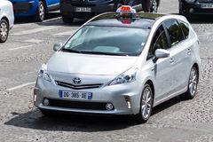 Υβριδικό ταξί Στοκ εικόνα με δικαίωμα ελεύθερης χρήσης