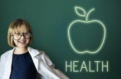Υγείας διατροφής οργανική έννοια κατανάλωσης της Apple υγιής Στοκ Εικόνες