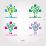 Υγεία, ιατρικά, sanitay λογότυπα, vectorial αρχείο Στοκ Φωτογραφία
