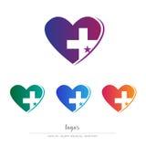 Υγεία και ιατρική απεικόνιση λογότυπων Στοκ εικόνες με δικαίωμα ελεύθερης χρήσης