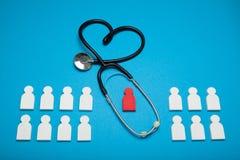 Υγεία καρδιών ελέγχου, ασθένεια υπέρτασης Στηθοσκόπιο, καρδιολογία στοκ φωτογραφία