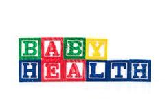 Υγεία μωρών - φραγμοί μωρών αλφάβητου στο λευκό Στοκ εικόνα με δικαίωμα ελεύθερης χρήσης