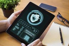 υγεία app ταμπλετών υπολογιστών γραφείου Στοκ Εικόνες