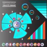 Υγειονομική περίθαλψη διανυσματικό Infographic ελεύθερη απεικόνιση δικαιώματος