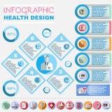 Υγειονομική περίθαλψη διανυσματικό Infographic Στοκ Εικόνα