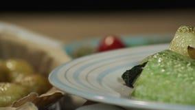 υγιές γεύμα απόθεμα βίντεο