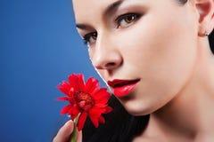 Υγιές δέρμα ομορφιάς Face.Perfect Στοκ εικόνα με δικαίωμα ελεύθερης χρήσης