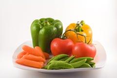 υγιές λευκό πρόχειρων φαγητών πιάτων Στοκ Εικόνα