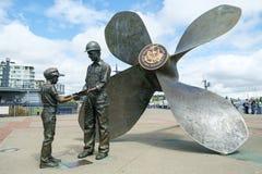 Υγιές ναυτικό μνημείο ναυπηγείων Puget στοκ φωτογραφίες