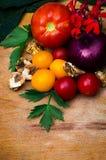 Υγιές ντεκόρ λαχανικών Στοκ Φωτογραφία