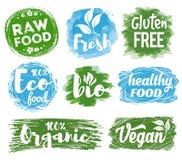 Υγιές λογότυπο τροφίμων διανυσματική απεικόνιση