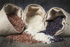 Υγιές οργανικό ρύζι τροφίμων Στοκ φωτογραφία με δικαίωμα ελεύθερης χρήσης