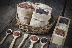 Υγιές οργανικό ρύζι Στοκ Εικόνα