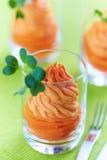 Υγιές ορεκτικό κρέμας καρότων Στοκ Εικόνα