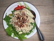 Υγιές & πικάντικο Spagetti στοκ φωτογραφία με δικαίωμα ελεύθερης χρήσης
