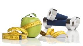 Υγιές πράσινο μήλο Στοκ Εικόνες