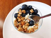 Υγιές πρόγευμα του γιαουρτιού στοκ φωτογραφίες